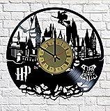 nursery room ideas Hogwarts School Harry Potter Vinyl Wall Clock - Handmade Artwork Home Bedroom Living Kids Room Nursery Wall Decor Great Gifts idea for Birthday, Wedding, Anniversary - Customize Your (Gold/Black)