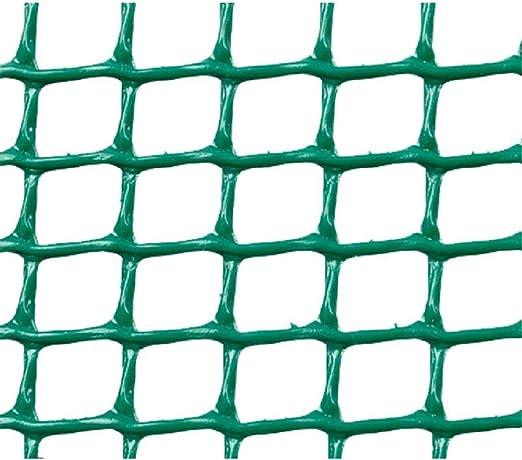 Faura 1x5m - Malla PLASTICA Cuadrada 0, 5x0, 5 cm Verde: Amazon.es: Jardín