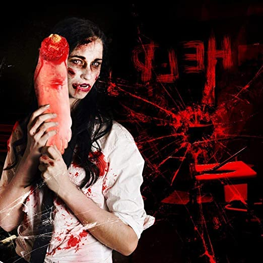 Bloody Horror Scary Halloween Prop Fake Severed Lifesize Arm Hand Haunt House Vi
