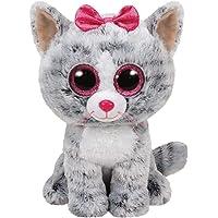 Mega Ty Pelus Kiki Grey Cat Med, 25 cm