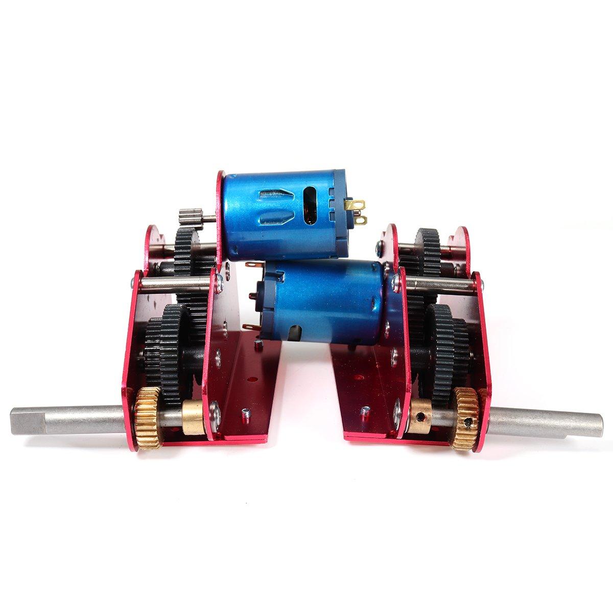 Prament 59cm シャフト H + L ポジションスチールギアベアリングドライブギアボックス 1/16 HengLong RC タンクのアップグレードキット -   B07DT2FPYB