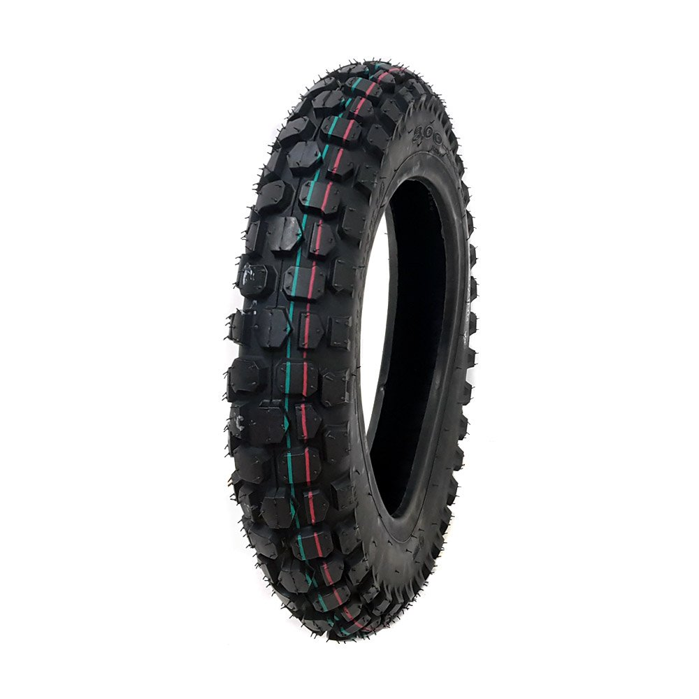 SET OF TWO: Knobby Tires 2.50-10 (Rim 10'') Front/Rear Tube Type Off Road Motocross Pattern + Matching Inner Tubes (TR4)