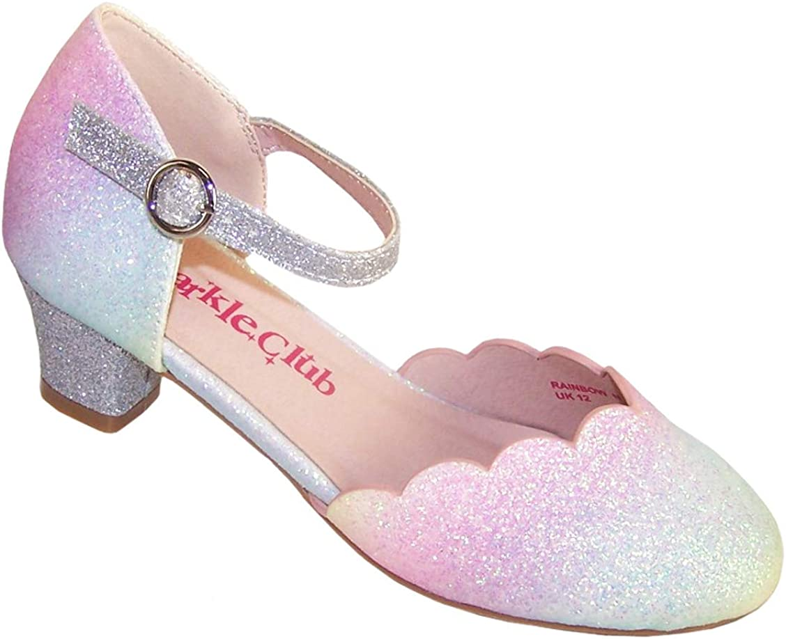Girls' Kids Rainbow Sparkly Party Shoes
