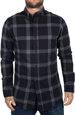 Only & Sons Hombre Slim Fit Tim Camisa a Cuadros, Azul, Medium: Amazon.es: Ropa y accesorios
