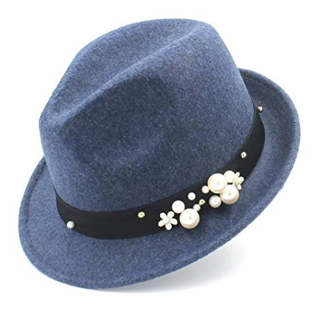 GZ Sombrero de Fieltro Fedora de Mujer para Elegantes Gorras de ...