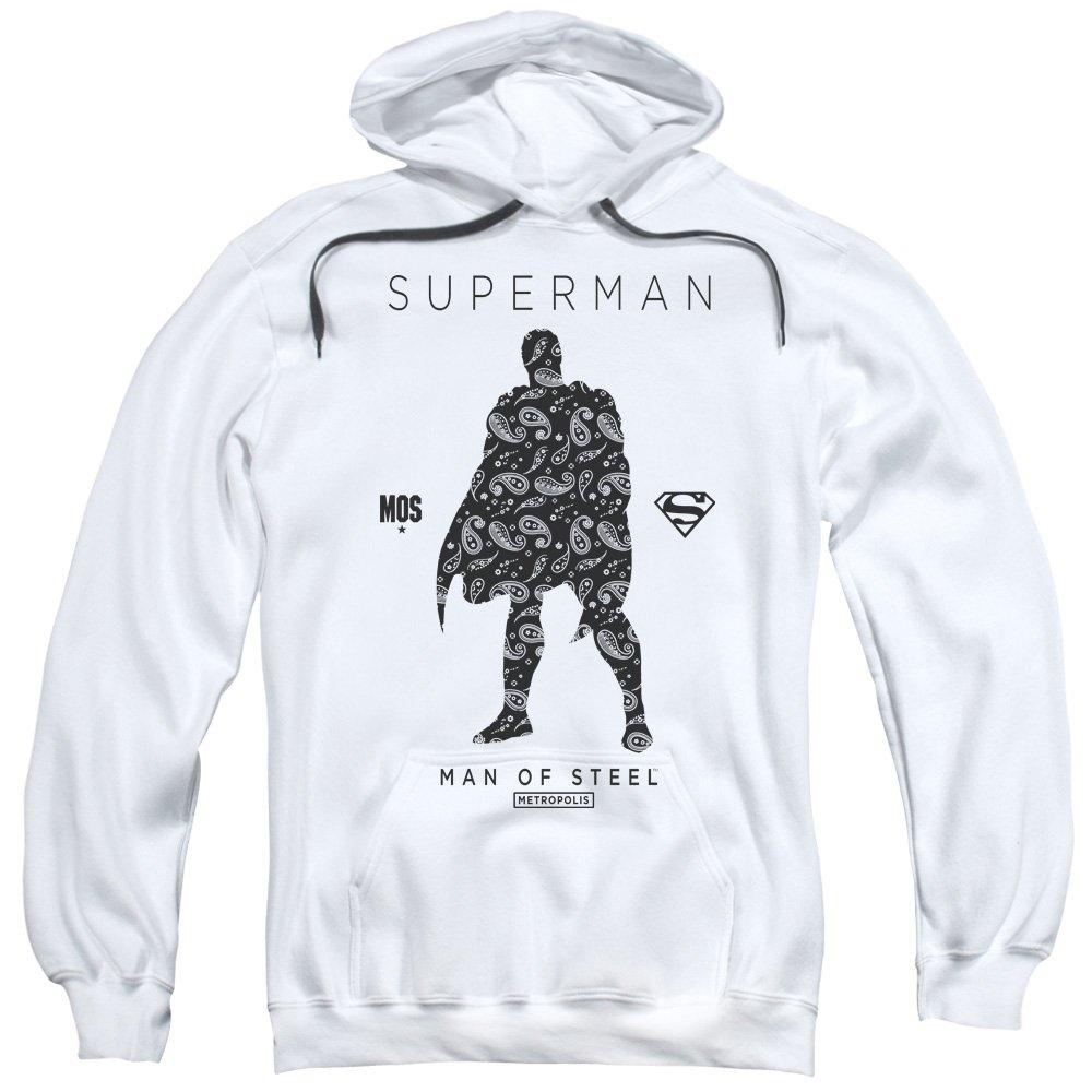 Superman Männer Paisley Sihouette Pullover Kapuzenpullover
