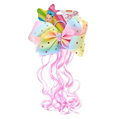 ab69751ac63 Amazon.com  Claire s Girl s JoJo Siwa Pastel Rainbow Bow Faux Hair Tie  JoJo  Siwa  Clothing