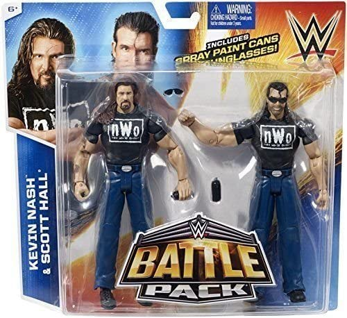 THE NWO - KEVIN NASH & SCOTT HALL - BATTLE PACK SERIES 36 - WITH ACCESSORIES by WWE: Amazon.es: Juguetes y juegos