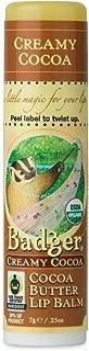 product image for Badger - Cocoa Butter Lip Balm, Creamy Cocoa, Certified Organic Lip Balm, Fair Trade, Natural Lip Balm, Lip Butter, Lip Balm Cocoa Butter, Cocoa Care Lip Balm, 0.25 oz