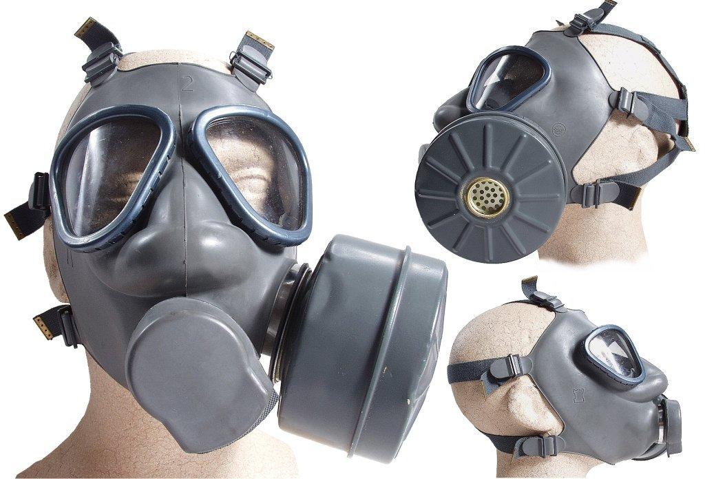 Finnische Schutzmaske US Modell M9 mit Filter neuwertig Gasmaske ABC-Ausrü stung Armeeware