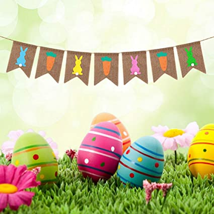 Easter Party Decorations Arts and Craft Bunny Rabbit Hunt Spring Time Decor