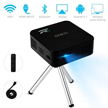 Amazon.com: Mini proyector portátil, Pico DLP, sistema ...
