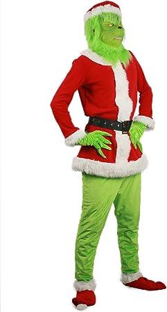 Mesky Grinch Disfraz para Carnaval Costume con Máscara Traje ...