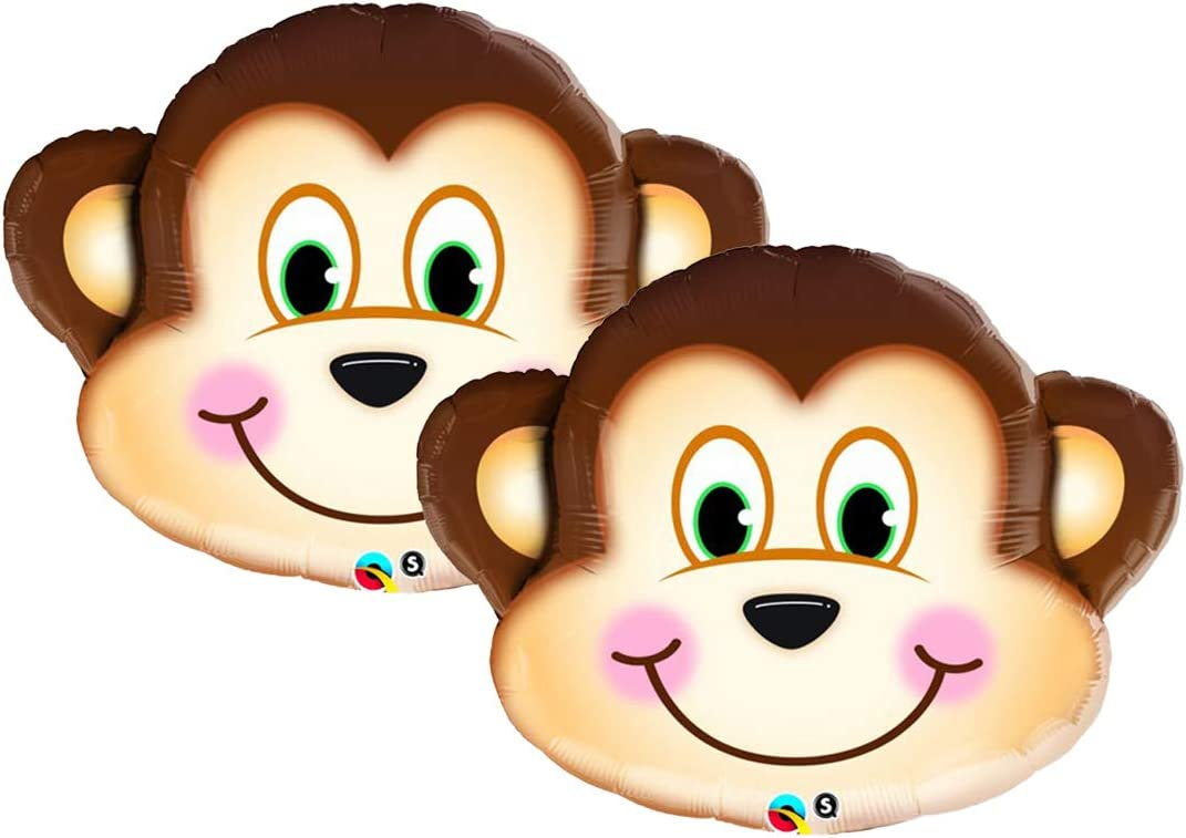 Adorable Monkey Head Jumbo 35 Foil Party Balloon