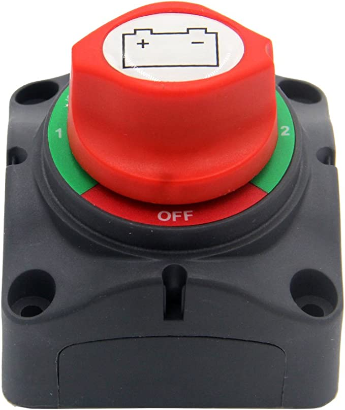 RV and Boat Vehicle On//Off Ambienceo 300A 24V Battery Isolator Disconnect Switch Battery Power Cut Master Switch Disconnect Isolator for Car
