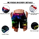 Alistyle Mens Summer 3D Print Colorful Smoke