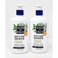 Kiss My Face Moisture Shave 11 Ounce Green Tea Bamboo (325ml) (2 Pack)