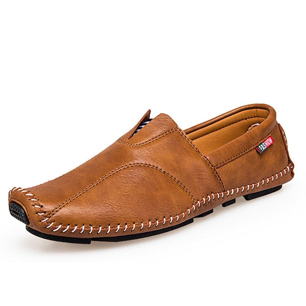 Herren Schuhe Mikrofaser Leder Faule Schuhe Frühjahr/Herbst Komfort Loafers  SlipOns Herren Casual/Outdoor Fahr Schuhe/Wanderschuhe (Farbe : C  Größe : 40) C
