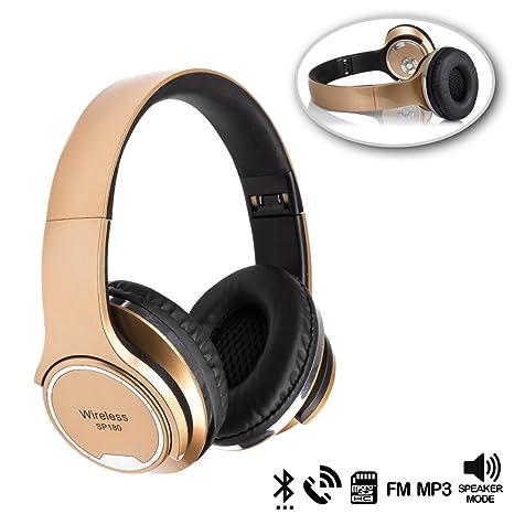 DAM. DMX068GOLD. Cascos Bluetooth con Modo Altavoz, con ...