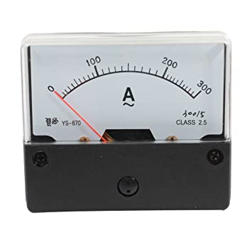 AC 0-300A Fine Tuning Dial Panel Analog Ampere Meter Amperemeter