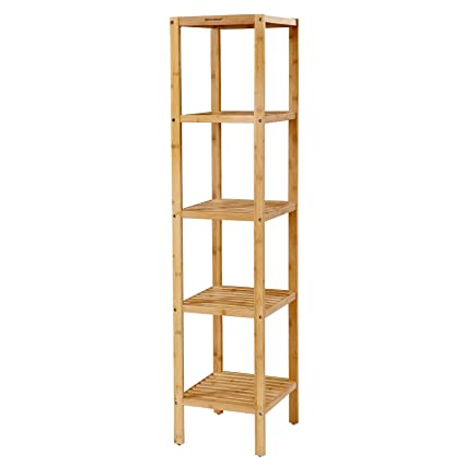 Amazon.com: SONGMICS Narrow Shelving Unit Bathroom Shelf 5-Tier ...