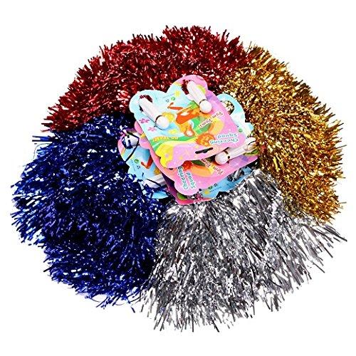 Schramm/® 4er Pack Pom Poms Pom Pom Tanzwedel Cheerleader Puschel Tanzpuschel 2x2