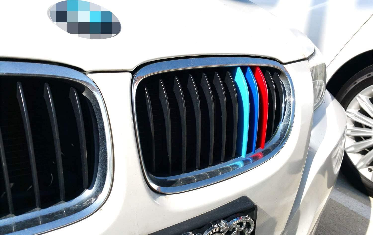 Does Not Fit X6M iJDMTOY //////M-Colored Grille Insert Trims For 2017-2018 BMW F16 X6 with 7 Standard Grille Beams