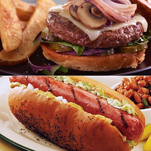 Kansas City Steaks 16 (3.2oz) All Beef Hot Dogs, 16 (4.5oz) Classic Steakburgers, & 2 (1lb.) KC Steak Fries