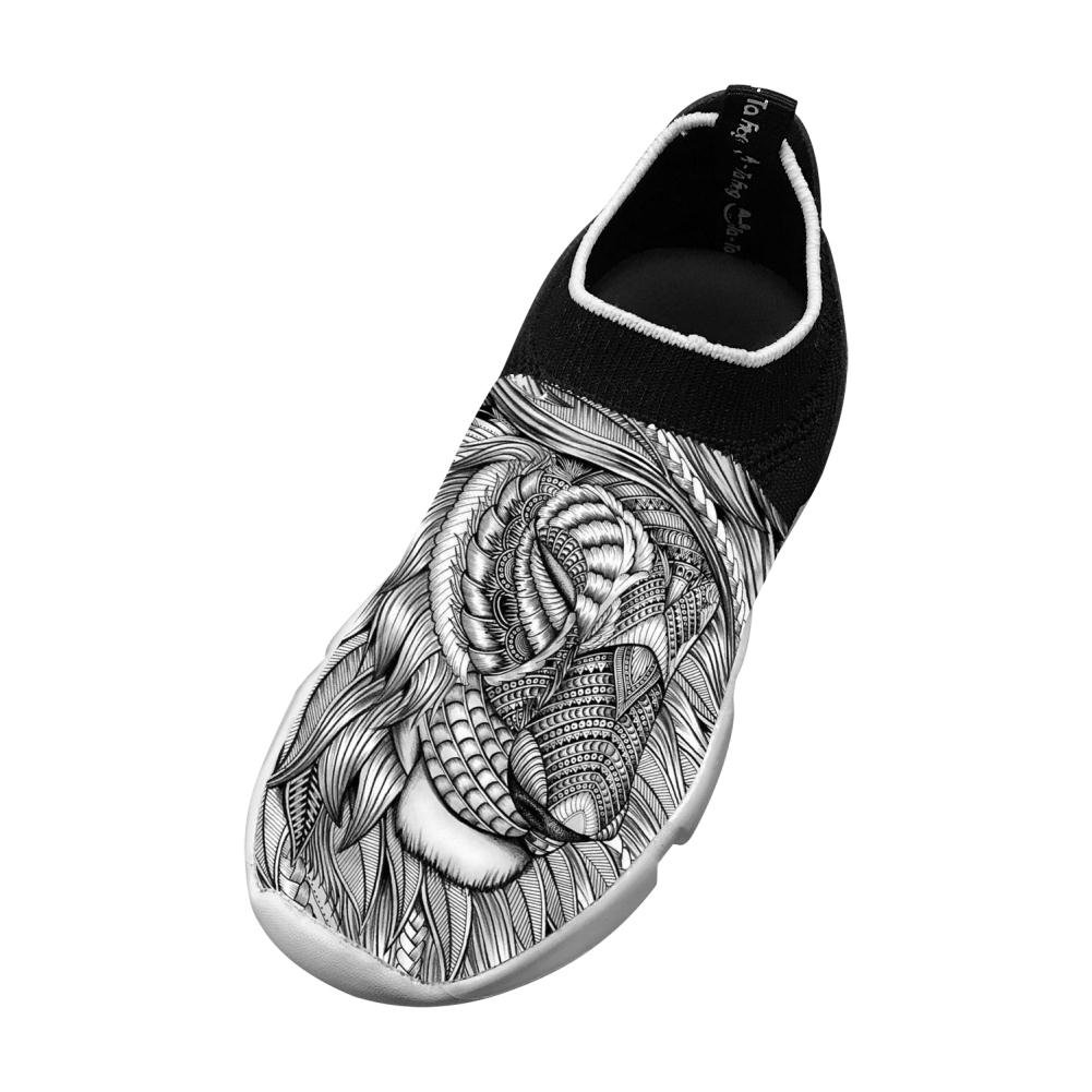 PoAn Teenage Fly Knit Shoe Doodle Flexible Sports