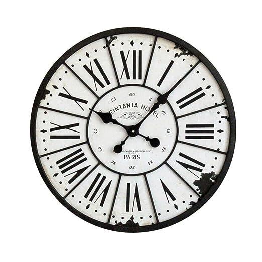 KYDJ Reloj de pared estilo industrial loft de estilo americano retro aldea de Hierro antiguo reloj reloj de pared Reloj de pared grande salón: Amazon.es: ...