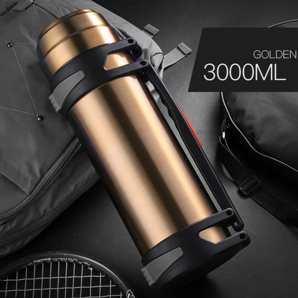 WJL Protezione per Il Viaggio Bottiglia di Acqua Calda Portatile Domestico in Acciaio Inox Vuoto All'Aperto Grande Tazza Auto Grande capacità 3000 Ml Prezzi