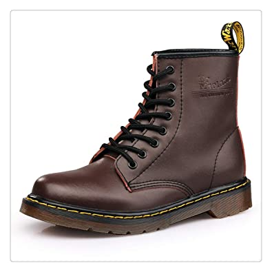 2a732d8b40 Doc Martins Leather Winter Warm Shoes Motorcycle Mens Ankle British Martins