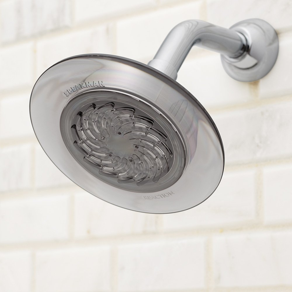 Speakman S-4002-E2 Reaction Fixed 2.0 GPM Shower Head, Smokey Gray ...