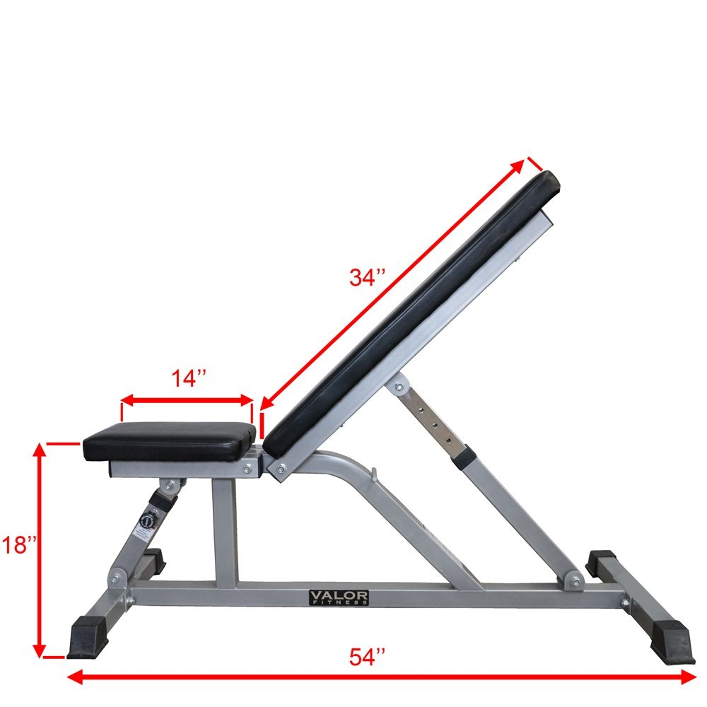 Valor Fitness Incline / Flat Utility Bench by Ironcompany.com (Image #2)