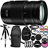 Panasonic Lumix G Vario 100-300mm f/4-5.6 II Lens (White Box) & 14PC Accessory Kit – Includes Manufacturer Accessories + 3PC Filter Kit (UV + CPL + FLD) + MORE - International Version (No Warranty)