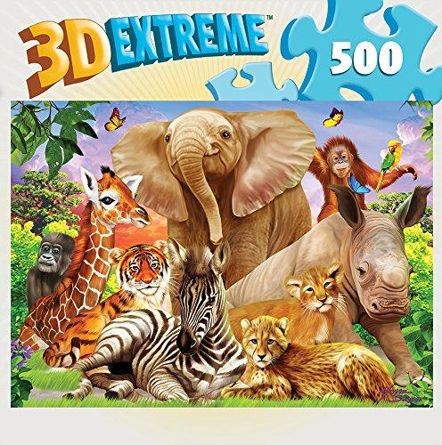 MasterPieces 3D Extreme Lenticular Portrait Pals Puzzle (500 Piece) by MasterPieces