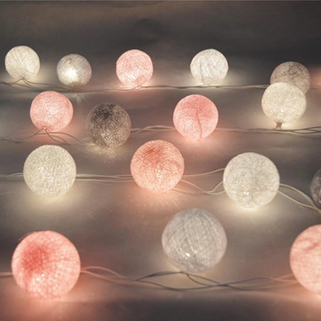 mymotto LED Fée Lumières Boules 3m 22s Coton Balles Batterie//USB Plug Noël Célébration Jardin Terrasse Chambre Déco…