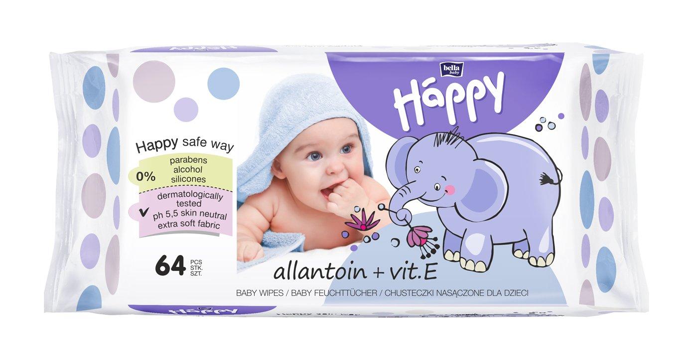 Bella Baby Happy Feuchttücher Milch & Honig, 1er Pack (1 x 64 Stück) 1er Pack (1 x 64 Stück) BB-062-WM64-006