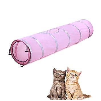 Túnel para Gatos, Morbuy 1 Vías Túneles Extensible Plegable Gato Jugar Túnel Casa del Laberinto del ...