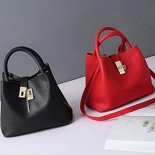 Bolso Bandolera Bolsa de hombro de Piel XXL Grande Negro para Mujer y  Shoppers por ESAILQ B  Amazon.es  Equipaje 83aec469c449
