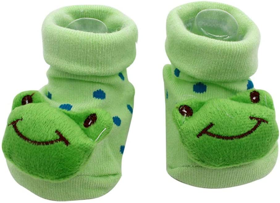 Fewao Baby Boys Girls Socks Toddler 3D Cartoon Anti-Skid Newborn Booties Sock Novelty Cotton Cute Animal Crew Socks