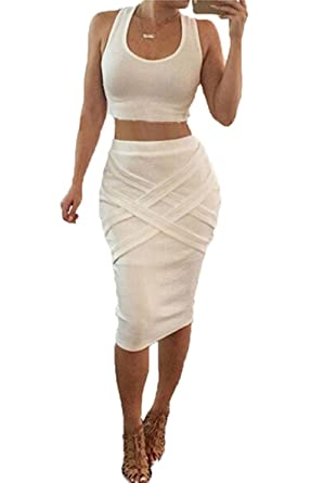 70fb551c129c Image Unavailable. Image not available for. Color  Grey or White Sleeveless  Bodycon Dress ...