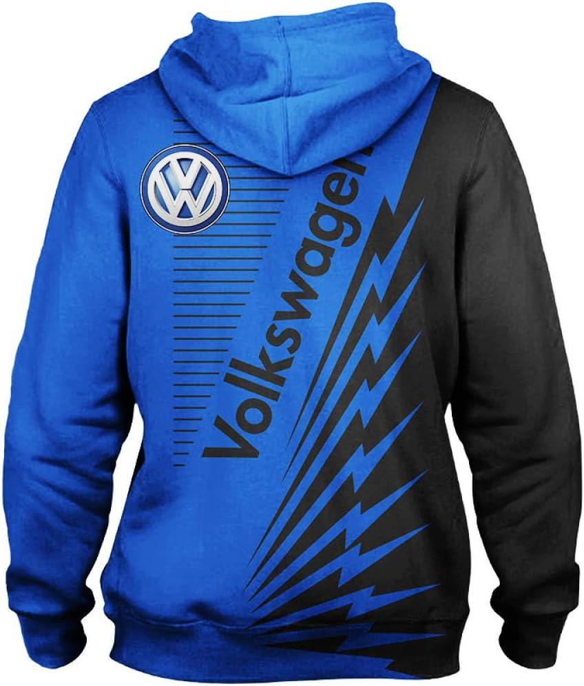 THEBEST BIst Hommes Sweat /À Capuche Veste Pour Volkswagen 3D Impression Hooded Pullover Sweat-Fan Jersey Sport A1 5XL