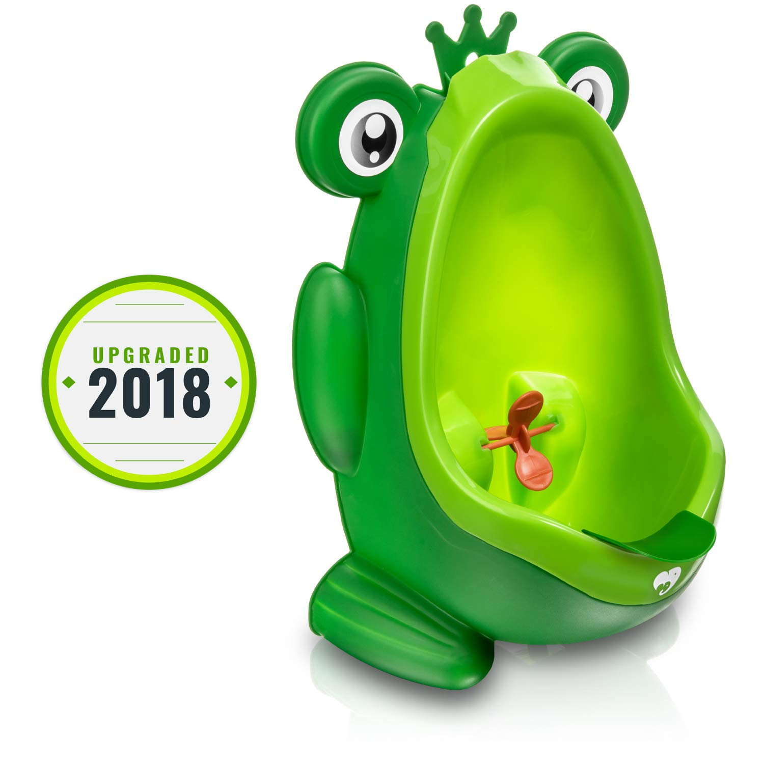 Frog Potty Training Urinal for Boys Toilet with Funny Aiming Target - Green Purple Safety