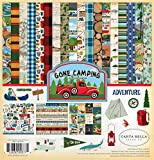 Carta Bella Paper Company CBGC85016 Gone Camping Collection Kit Paper, 12 x 12, Multicolor