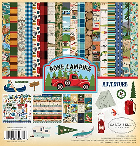 Carta Bella Paper Company CBGC85016 Gone Camping Collection Kit Paper, Multicolor by Carta Bella Paper Company