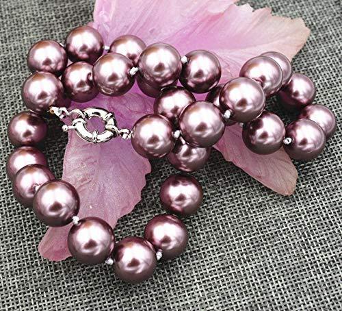 FidgetFidget Fashion Genuine 10mm 12mm 14 mm South Sea Shell Pearl Necklace 18