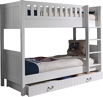 Comforium Bunk Bed 90 X 200 Cm With Tiroir Lit Mdf And Solid Pine