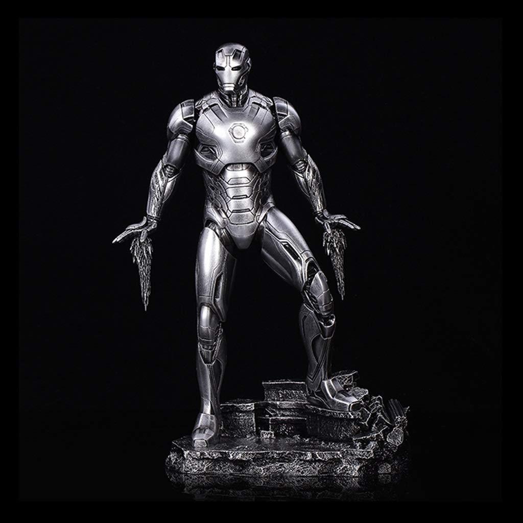 KGMYGS Iron Man Qiu Zhe Allianz Iron Man mark45 Modell Statue Anime Ornament hoch 33cm