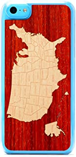 product image for CARVED Clear Wood Case for iPhone 5C - USA Map (5C-CC1-USA)